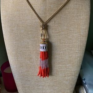 Stella & Dot tassel necklace NWOT 20.5 inches long